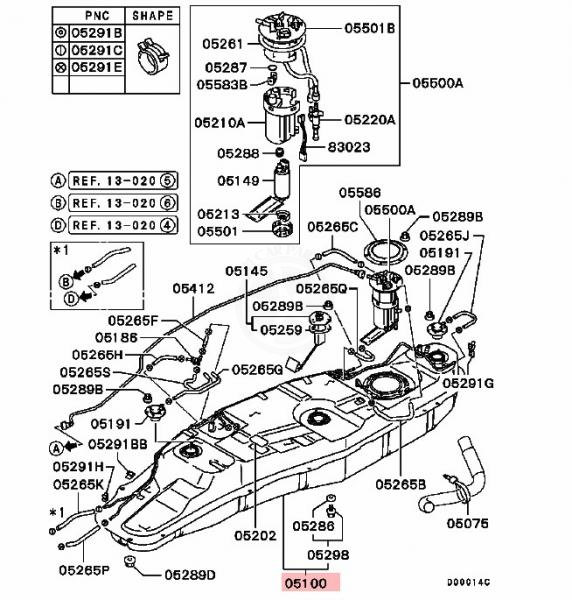 5-Mitsubishi-Shougun-Pajero-MK3--Fuel-Tank-MR342848